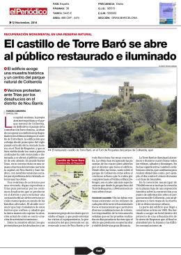 El castillo de Torre Baró se abre al público restaurado e iluminado