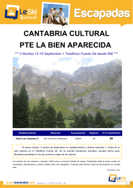 CANTABRIA CULTURAL PTE LA BIEN APARECIDA