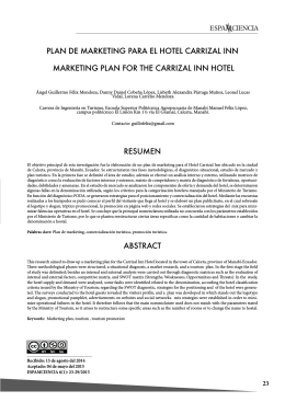 PLAN DE MARKETING PARA EL HOTEL CARRIZAL INN