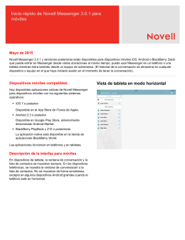 Inicio rápido de Novell Messenger 3.0.1 para móviles