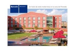 Un hotel de estilo modernista en la zona del Penedés