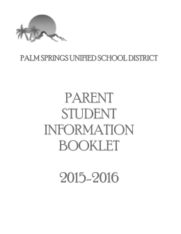 parent student information booklet 2015-2016