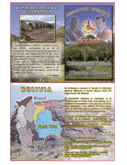 logistica: samaipata - bolivia