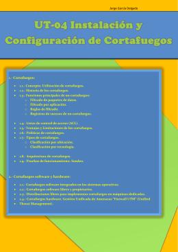 Instalacion y Configuracion de Cortafuegos