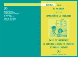 Normas para la prevención de la transmisión de la tuberculosis en