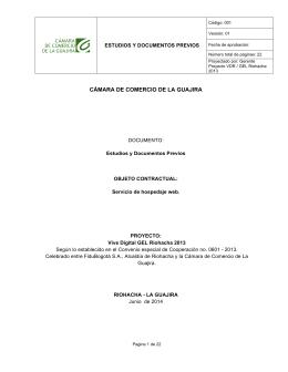 Estudios Previos - Cámara de Comercio de La Guajira