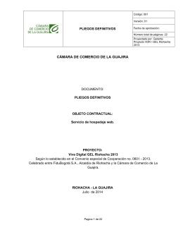 Pliegos Definitivos - Cámara de Comercio de La Guajira