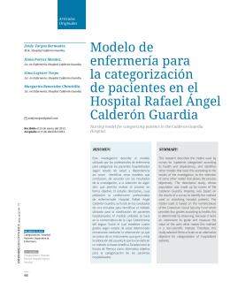 Modelo de enfermería para la categorización de pacientes
