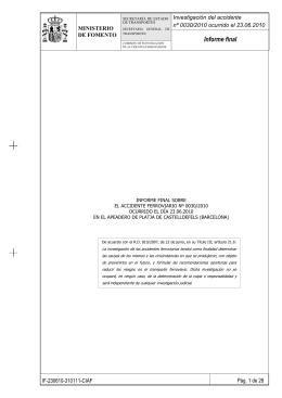 0030/010 - Ministerio de Fomento
