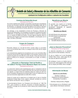 Boletín de Salud y Bienestar de los Albañiles de