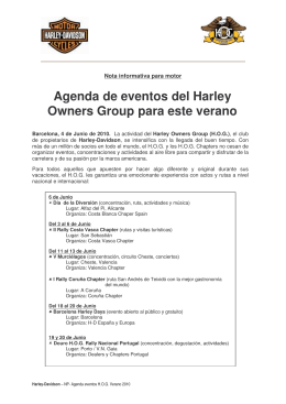 Agenda de eventos del Harley Owners Group