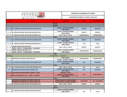 calendario de eventos federacion colombiana de patinaje