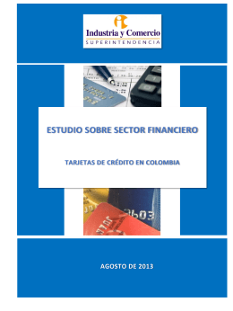 estudio sobre sector financiero - Superintendencia de Industria y