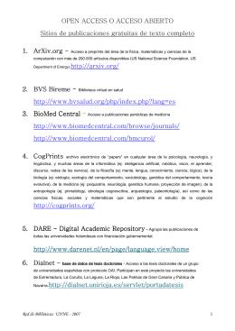 Acceso gratuito a Revistas Electrónicas