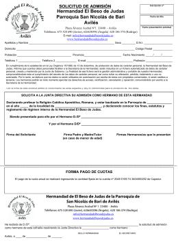 solicitud admision.qxd - Hermandad El Beso de Judas