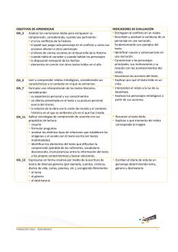 OBJETIVOS DE APRENDIZAJE INDICADORES DE