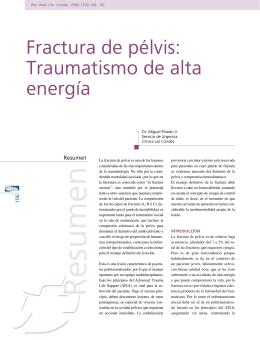 Fractura de pélvis: Traumatismo de alta energía