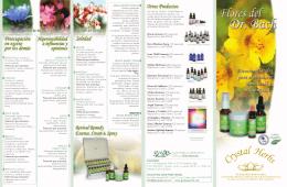 Folleto Flores de Bach (Crystal Herbs)