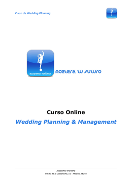 Curso Online Wedding Planning & Management