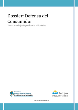 Dossier: Defensa del Consumidor