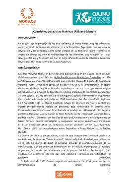 Cuestiones de las Islas Malvinas (FalklandIslands)