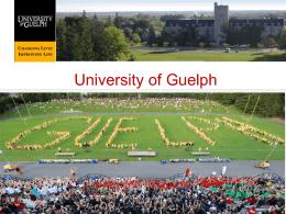 Ciencias Ambientales - University of Guelph