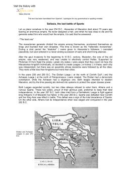 Selasia, la última batalla de Esparta