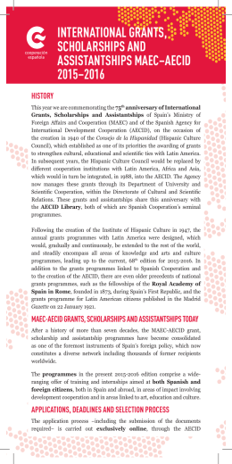 international grants, scholarships and assistantships maec–aecid
