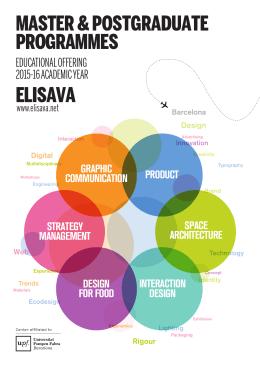 ELISAVA MASTER & POSTGRADUATE PROGRAMMES