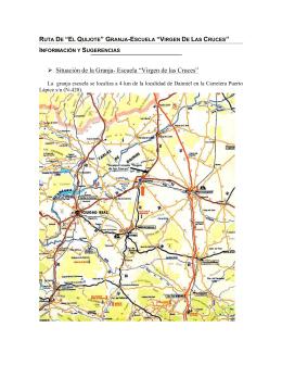 """ruta de """"el quijote"""" granja-escuela """"virgen de las cruces"""""""