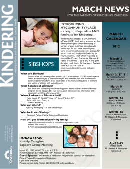 March 2012 - Kindering