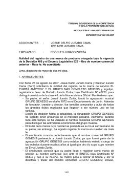 RODOLFO JURADO ZURITA Nulidad del registro de u