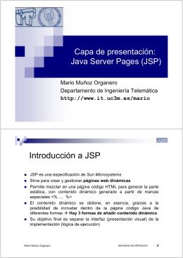 Introducción a JSP - Departamento de Ingeniería Telemática