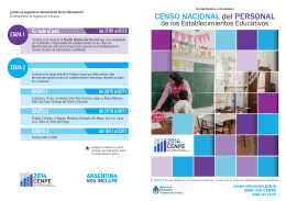 CENSO NACIONAL del PERSONAL - Ministerio de Educación de la