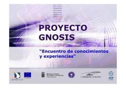 Presentación web del Proyecto Gnosis