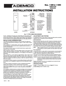 INSTALLATION INSTRUCTIONS INSTALLATION