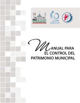 Manual para el Control del Patrimonio Municipal.