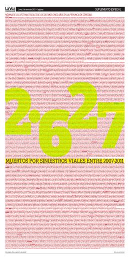 Tapa del suplemento: 2627 víctimas fatales