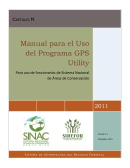 Manual para el Uso del Programa GPS Utility