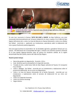 Ruta del Vino y Queso - Tours en Baja California