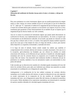 Capítulo 5 Obtención del coeficiente de fricción viscosa