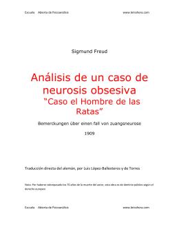 Análisis de un caso de neurosis obsesiva (Caso