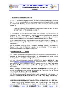 Convocatoria - Federación de Tiro con Arco de Castilla y León