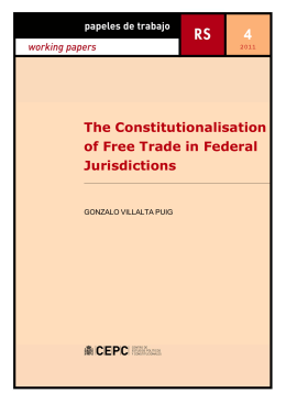 The Constitutionalisation of Free Trade in Federal Jurisdictions