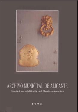Archivo Municipal de Alicante - Historia de una rehabilitación en el