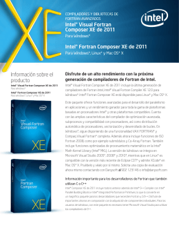 info Intel Visual Fortran XE