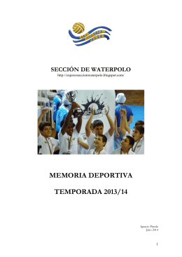 MEMORIA DEPORTIVA TEMPORADA 2013/14