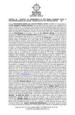 REGIONAL BOYACA - Procuraduría General de la Nación