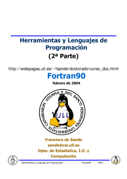 Fortran90 - Francisco de Sande