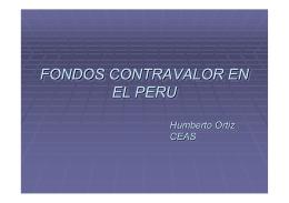 FONDOS CONTRAVALOR EN EL PERU